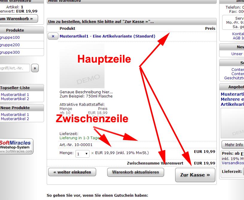 2.2.5 Rahmen - SoftMiracles Shopsystem Helpcenter